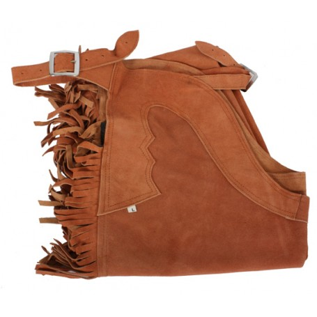 Tan Leather Western Suede Chaps XXL