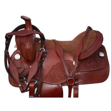 Premium Western Hand Made Leather Horse Saddle Tack 17