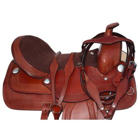 Premium Western Hand Made Leather Horse Saddle Tack 16