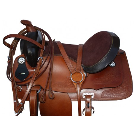 Comfortable Western Cowboy Trail Saddle Tack 15-17