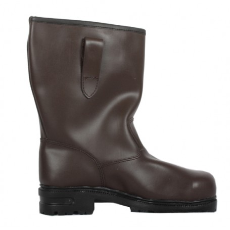Brown Work Steel Toe Leather Boots 8-9