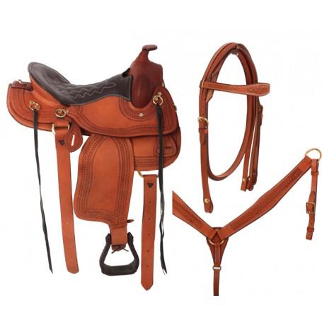 Premium Brown Endurance Saddle Tack Package 15