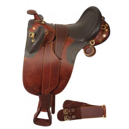 Premium Australian Saddle Horn Stirrups Over Girth 17 - 20