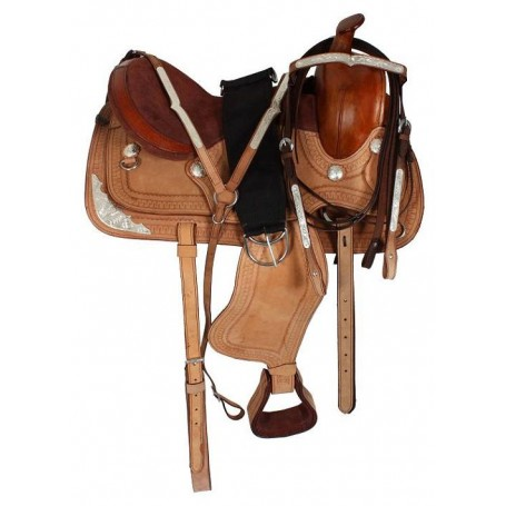 Natural Western Leather Show Saddle Tack Girth 15