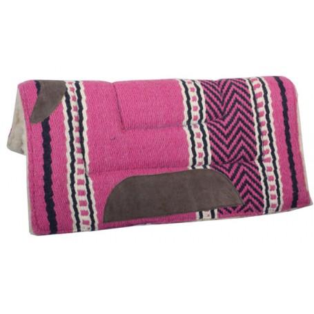 Premium Pink Wool Fleece Lined Heavy Saddle Pad