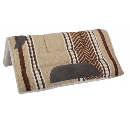 Premium Tan Wool Fleece Lined Heavy Saddle Pad