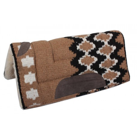 Premium Brown Wool Fleece Lined Heavy Saddle Pad