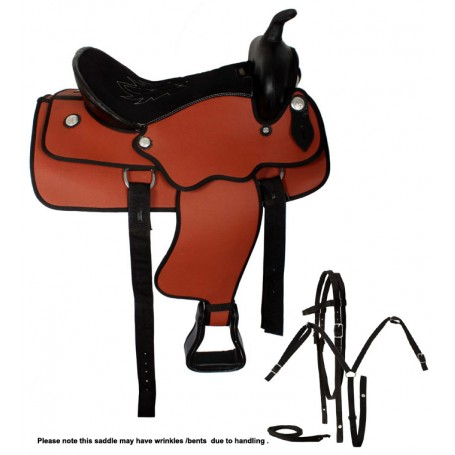 New 17 Synthetic Western Trail Horse Saddle Tack