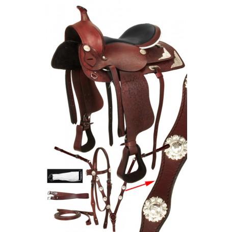 Mahogany Western Trail Show Horse Saddle 15-18