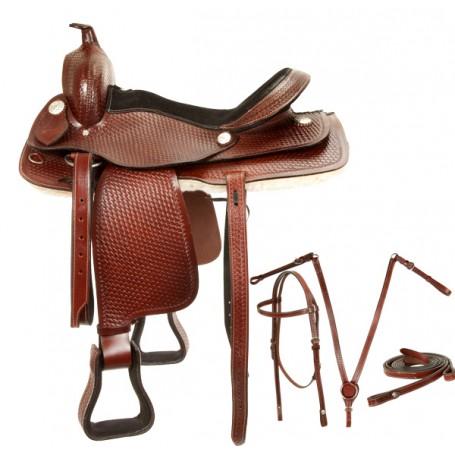 Comfortable Western Pleasure Trail Saddle Tack Set 16 17