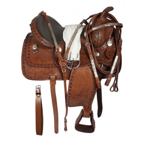 Western Pleasure Trail Horse Saddle Tack Set 15 16