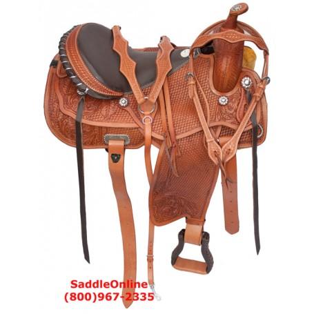 Hand Made Western Horse Trail Reining Saddle Tack Set 16