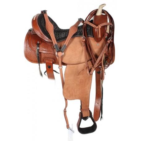 Western Pleasure Trail Barrel Racing Horse Saddle 16