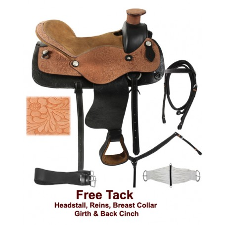 Western Pleasure Trail Horse Saddle Tack 15 17 18