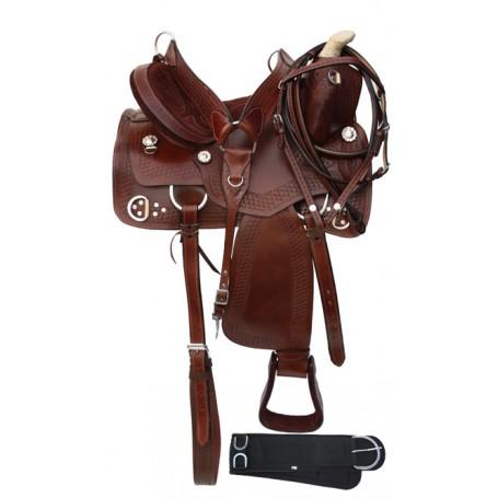 Western Pleasure Trail Trainning Horse Saddle 15-18