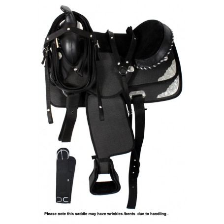 15-17 Black Synthetic Western Trail Horse Saddle Tack Girth