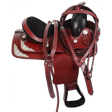 Youth Pony Western Leather Saddle Tack 10-14