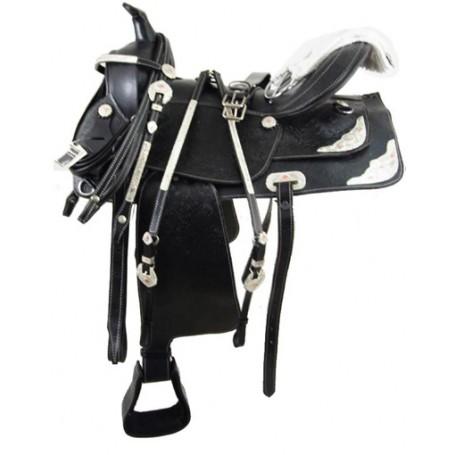 16 Black Western Show Horse Saddles