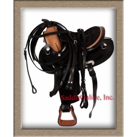 Youth Pony Western Leather Saddle Tack 10