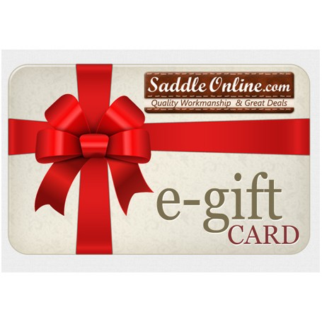 SaddleOnline eGift Card - E-mail Delivery