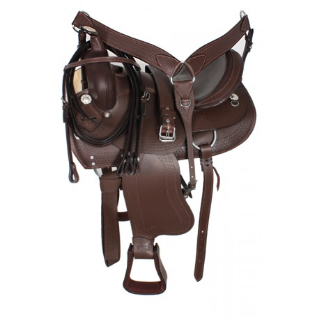 Western Pleasure Trail Horse Saddle Tack 15 16
