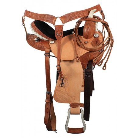 Natural Barrel Racing Saddle Tack Package 17