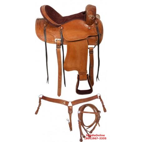16 Comfortable Western Tan Hornless Trail Endurance Saddle