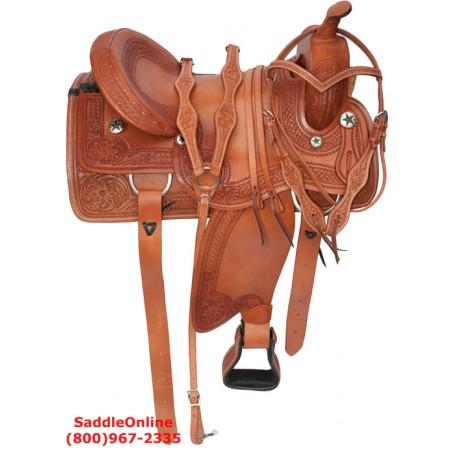 Custom Made Old Style Western Pleasure Trail Saddle 16