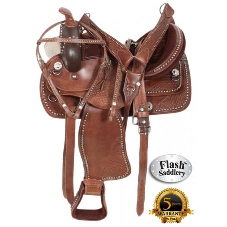 Antique Pleasure Trail Show Parade Horse Saddle 16 18
