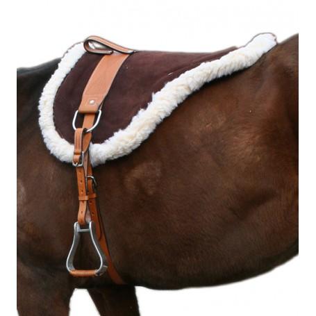 Natural Horsemanship Premium Brown Leather Bareback Pad