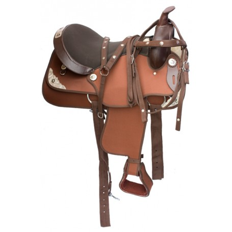 Western Synthetic Pleasure trail Horse Saddle 16 18