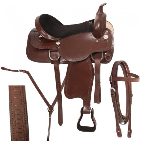 Pleasure Western Horse Saddle Trail 16