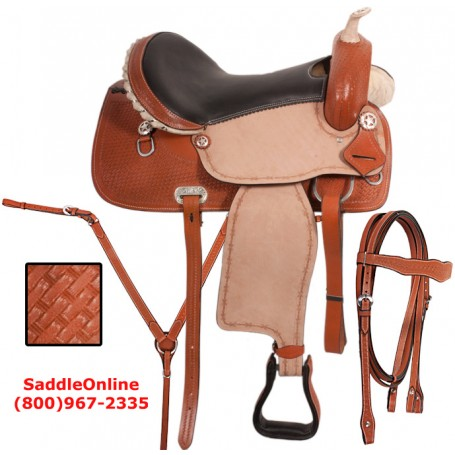 Barrel Racing Western Horse Saddle 16 17