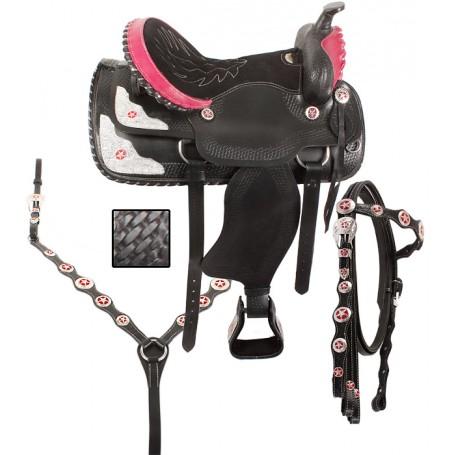 Black Western Horse Saddle Tack Show 16 17