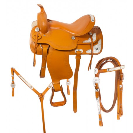 Tan Western Horse Saddle Tack Show 16 18