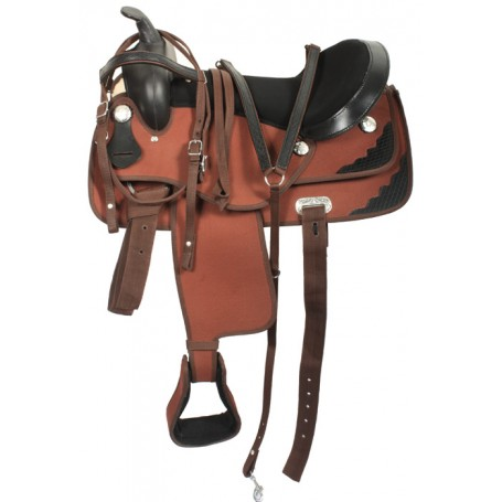 15 Western Synthetic Pleasure Trail Horse Saddle