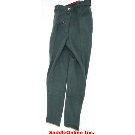 New 22 24 26 30 Green Cool Cotton Riding Breeches / Pants