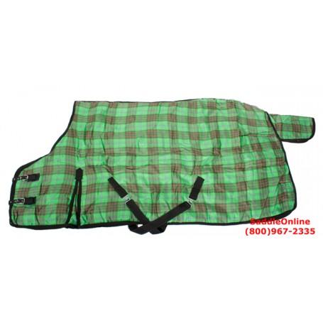 Green Horse Stable Winter Blanket HEAVY 78