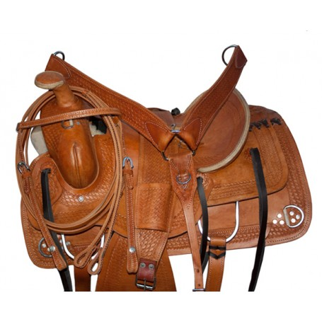 Ranch Work Leather Cowboy Western Horse Saddle & Tack 115 17