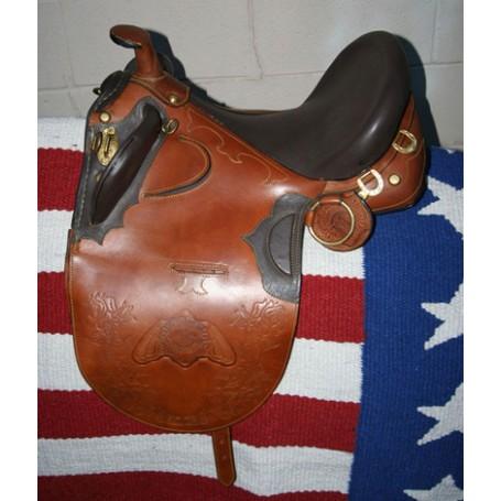 NEW TAN AUSTRALIAN AUSSIE HORSE STOCK SADDLE