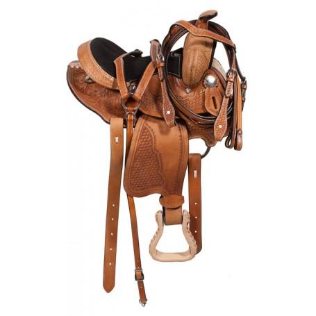 Kids Youth Pony Western Barrel Saddle 10 13