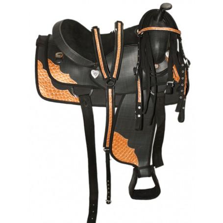 New 16 Beautiful Western Horse Saddle W Tack
