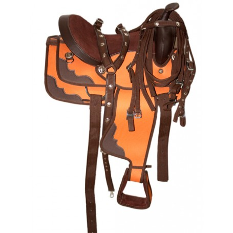 New 16 Beautiful Western Horse Saddle W Tack