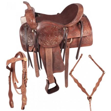 Custom Western Pleasure Trail Horse Leather Saddle 17