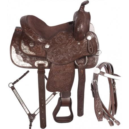 Youth QH Western Show Horse Saddle 14