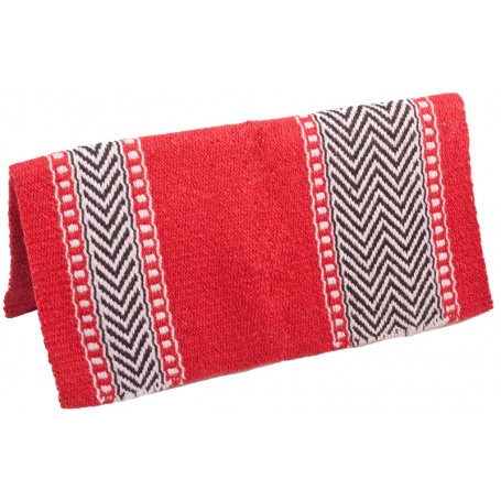 Red 100 Wool Show Cutting Saddle Blanket