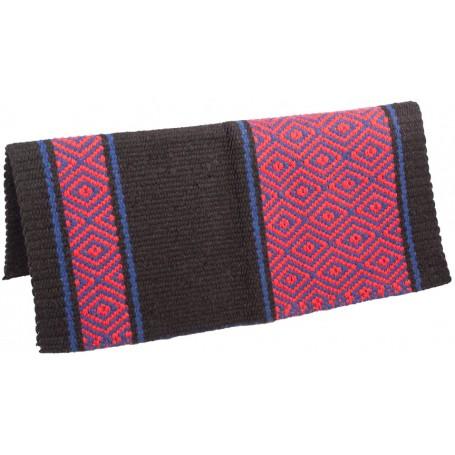 Black 100 Wool Show Cutting Saddle Blanket