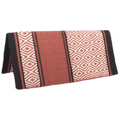 Brown 100 Wool Show Cutting Saddle Blanket