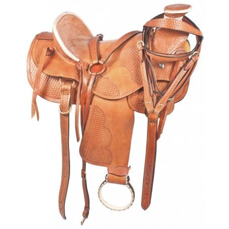 Custom Western Ranch Leather Horse Saddle 16