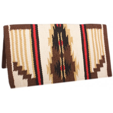 Brown Premium New Zealand Wool Show Horse Saddle Blanket